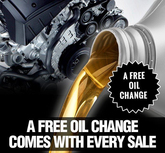 A free oil change comes with every sale